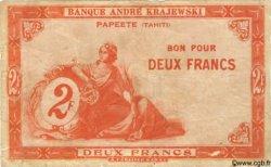 2 Francs TAHITI  1920 P.10 TB