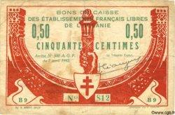 50 Centimes TAHITI  1942  TB