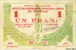 1 Franc OCÉANIE  1942 P.08 B