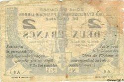 2 Francs OCÉANIE  1942 P.09 B+