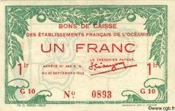 1 Franc OCÉANIE  1943 P.10 TTB+