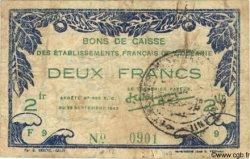2 Francs TAHITI  1943 P.11 TB+