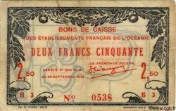 2,50 Francs OCÉANIE  1943 P.12 TTB