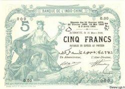 5 Francs DJIBOUTI  2000 P.-s NEUF