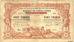 100 Francs (surchargé) DJIBOUTI  1920 P.04