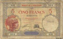 5 Francs DJIBOUTI  1927 P.06b B