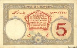 "5 Francs ""Walhain"" DJIBOUTI  1927 P.06b TTB"