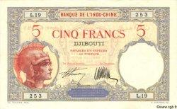 "5 Francs ""Walhain"" DJIBOUTI  1927 P.06b TTB+ à SUP"