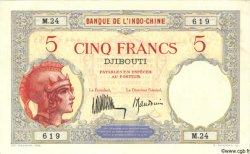 5 Francs DJIBOUTI  1932 P.06b TTB+ à SUP