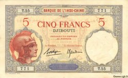 5 Francs DJIBOUTI  1936 P.06b TTB à SUP