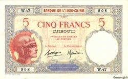 """5 Francs """"Walhain"""" DJIBOUTI  1936 P.06b SUP"""