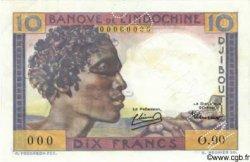 10 Francs type 1946 DJIBOUTI  1946 P.19s pr.NEUF