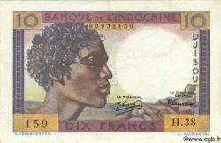 10 Francs type 1946 DJIBOUTI  1946 P.19 SUP