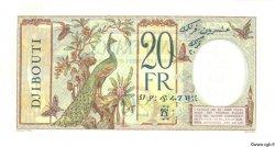 20 Francs au paon DJIBOUTI  1930 P.07s SPL