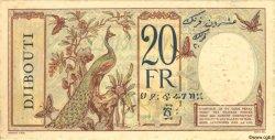 20 Francs au paon DJIBOUTI  1932 P.07s TTB+