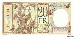 20 Francs au paon DJIBOUTI  1936 P.07s