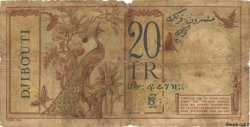 20 Francs au paon DJIBOUTI  1936 P.07 AB