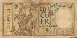 20 Francs au paon DJIBOUTI  1936 P.07 B
