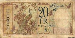 20 Francs au paon DJIBOUTI  1936 P.07 TB