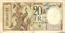 20 Francs au paon DJIBOUTI  1936 P.07 TB+