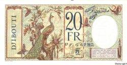 20 Francs au paon DJIBOUTI  1936 P.07As