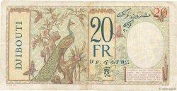 20 Francs au paon DJIBOUTI  1936 P.07A TB+