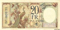 20 Francs au paon DJIBOUTI  1936 P.07A SUP