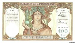 100 Francs DJIBOUTI  1931 P.08s NEUF