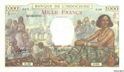 1000 Francs type 1938 DJIBOUTI  1938 P.10s pr.NEUF