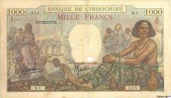 1000 Francs DJIBOUTI  1938 P.10 B+