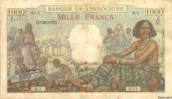 1000 Francs type 1938 DJIBOUTI  1938 P.10 TB