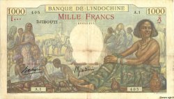 1000 Francs type 1938 DJIBOUTI  1938 P.10 TTB