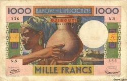 1000 Francs type 1947 DJIBOUTI  1947 P.20 TB+