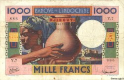 1000 Francs DJIBOUTI  1947 P.20 TTB
