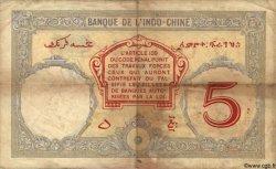 5 Francs DJIBOUTI  1943 P.11 TB