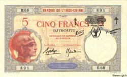 5 Francs DJIBOUTI  1943 P.11 SUP+