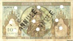 100 Francs type 1931 surchargé FC DJIBOUTI  1943 P.13s TB+