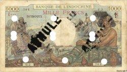 1000 Francs DJIBOUTI  1943 P.13Ds TB