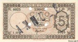 """5 Francs """"Palestine"""" DJIBOUTI  1945 P.14s pr.NEUF"""