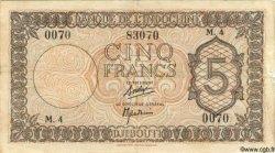 5 Francs Palestine DJIBOUTI  1945 P.14 TB