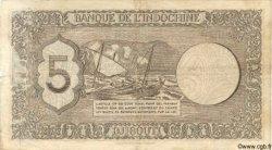 """5 Francs """"Palestine"""" DJIBOUTI  1945 P.14 TB"""