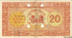 20 Francs Palestine DJIBOUTI  1945 P.15s TTB+