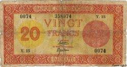 20 Francs Palestine DJIBOUTI  1945 P.15 B
