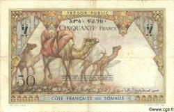 50 Francs DJIBOUTI  1952 P.25 TB+