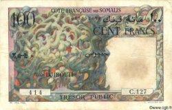 100 Francs DJIBOUTI  1952 P.26 TB+