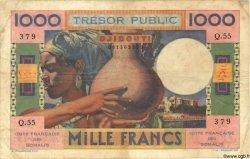1000 Francs DJIBOUTI  1952 P.28 TB