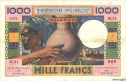 1000 Francs DJIBOUTI  1952 P.28 TTB