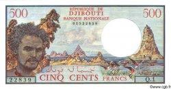 500 Francs DJIBOUTI  1979 P.36a
