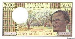5000 Francs DJIBOUTI  1979 P.38a pr.NEUF
