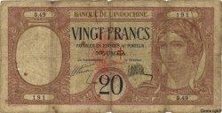 20 Francs NOUVELLES HÉBRIDES  1941 P.06 AB
